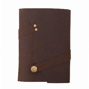 Antique button lock brown 5x7 inch buffalo diary notebooks