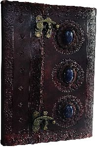 medieval stone embossed handmade Leather Diary