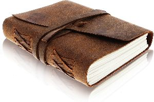 Leather Journal Writing Notebook - Antique Handmade Leather Bound Daily Notepad for Men , Women