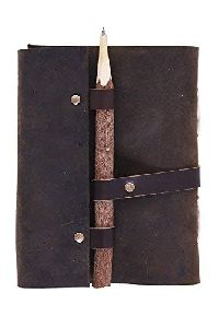 Pen Lock Brown 5x7 Inch Buffalo Leather Diary Notebooks For Office College school Diaries