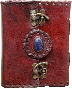 Pure Genuine Real Vintage Stone Goat Leather Diary With Metal C Lock