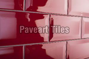 100 x 400mm Blood Red Wall Tiles