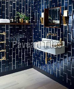 100 x 400mm Royal Blue Wall Tiles