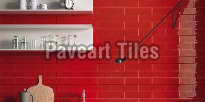 75 X 300mm Blood Red Wall Tiles