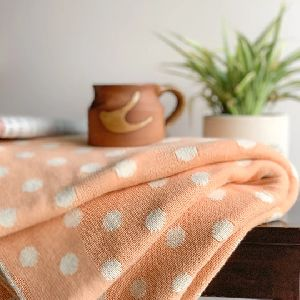 Dottie Knitted Throw Blanket