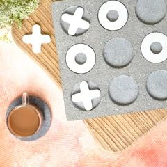 Stone Marble Knots & Crosses Game