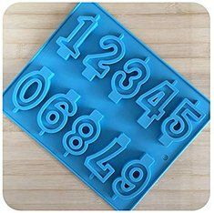 0 To 9 Numbers In Blocks Silicone Chocolate Candy Ice Candle Soap Jelly Mould