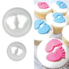 2 PCs Baby Feet Cookie