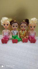 4 PCs Fancy Cake Sitting Doll Toppers Cake Decoration