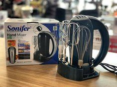 Sonifer 3 In 1 SF-7015 Electric 300 W Hand Mixer 5 Speeds Cake Tools