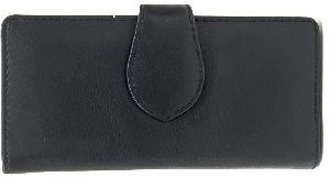 Leather Black Clutch Purse