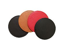 Leather Round Coaster