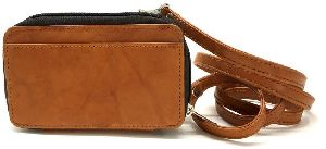 Leather Wallet Sling Bag