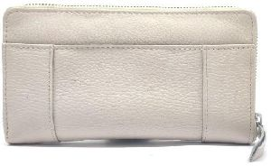 Leather Zipper Clutch Purse