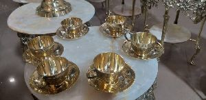 Brass Cup Plate Set
