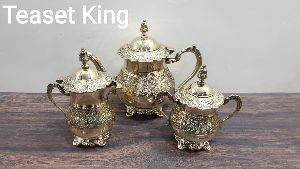 Brass King Tea Set