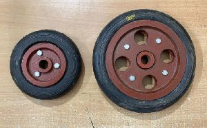 Rubber Trolley Wheel with CI Plate
