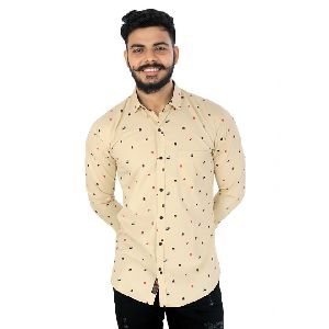 Mens Printed Lafer Cotton Shirts