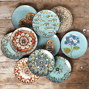 Hand Painted Ceramic Wall Plate