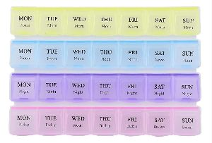 28 Days 4 Weeks Pill Medicine Box Organizer(Multicolor)