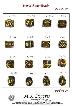Bone 27 Wooden Beads