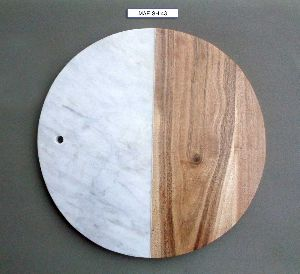 Marble & Wooden Chooping Board
