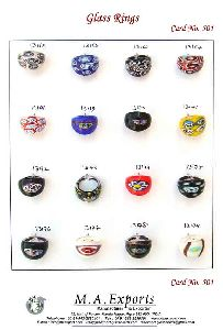 Murano & Millefiorie Glass Rings