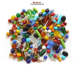 Plain Mix Glass Beads