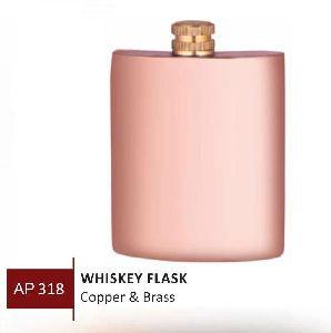 Copper & Brass Whiskey Flask