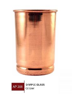 Copper Dimple Glass
