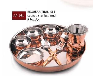 Copper Thali Set