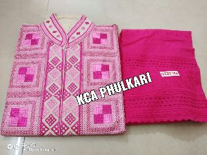 Ladies Phulkari Suit Material
