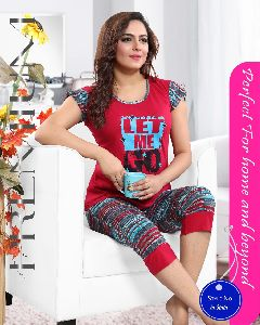 Ladies Red Night Suit