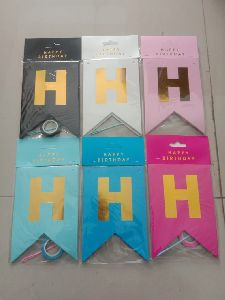Foil Birthday Party Banners