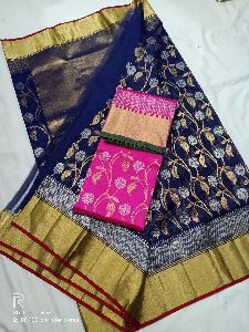 Pattu Silk Chanderi Sares