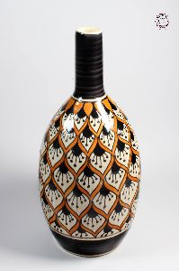 Bottle Shaped Floral Flower Vase