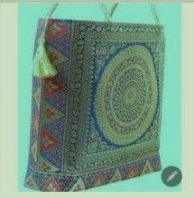 Art Silk Banarasi Brocade Handbag