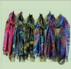 Assorted Large Cotton Tie and Dye Scarves