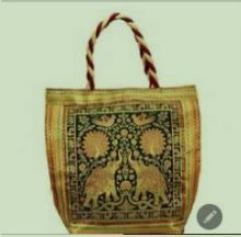 Assorted Party Wear Banarasi Brocade Handbag