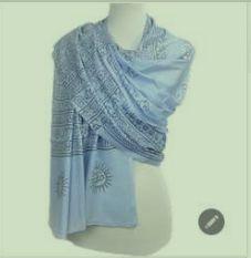Rayon Blue Natraj Printed Scarves