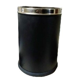 Stainless Steel Black Powder Coated Open Dustbin