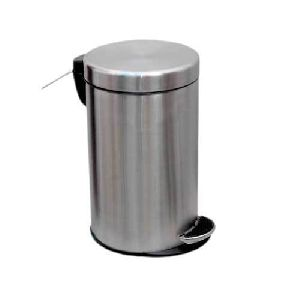 Stainless Steel Deluxe With Dome Lid Dustbin
