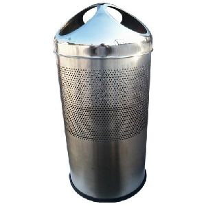 Stainless Steel Three Hole Dustbin