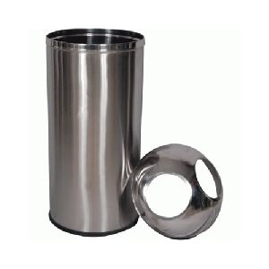 Stainless Steel Two Hole Dustbin