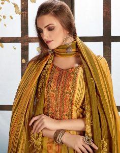 Pakiza Print Vol 35 Lawn Cotton Kashmiri Neck Emroidery Mal Mal Dupatta