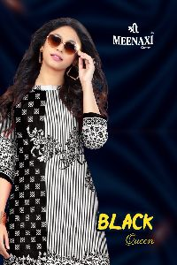 Shree Meenaxi Cotton Black Queen Collection