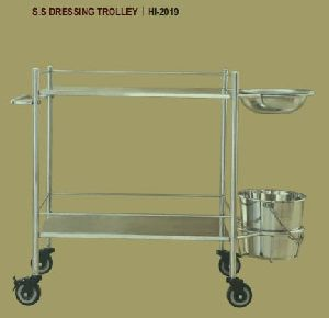 Hi-2019 S.S. Dressing Trolley
