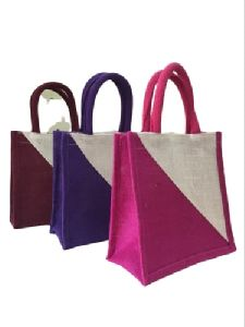 Multicolor Jute Shopping Bag