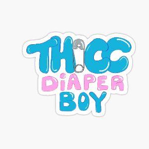 Adult Diaper Sticker