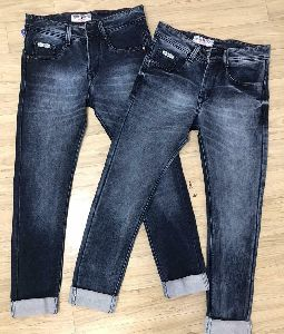 men blue denim